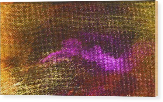 Intensity Golden Hue Wood Print by L J Smith