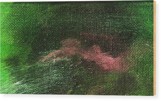 Intensity Green Pink Wood Print by L J Smith