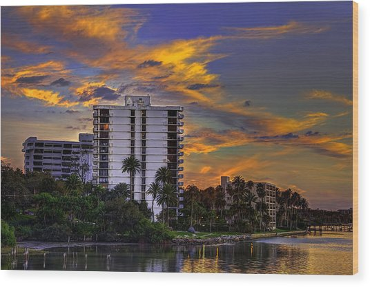 Intercoastal Sky Wood Print