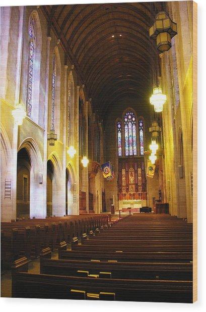Interior - Egner Memorial Chapel - Muhlenberg College Wood Print by Jacqueline M Lewis
