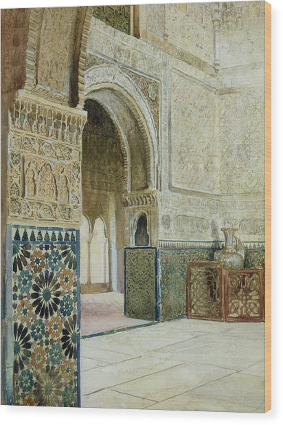 Interior Of The Alhambra  Wood Print