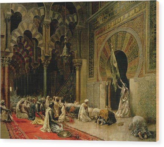 Interior Of The Mosque At Cordoba Wood Print