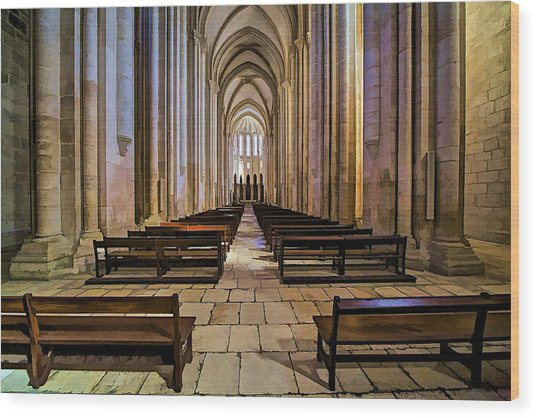 Interior Of The Monastery Da Batalha Wood Print