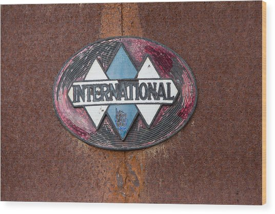 International Hood Emblem Wood Print