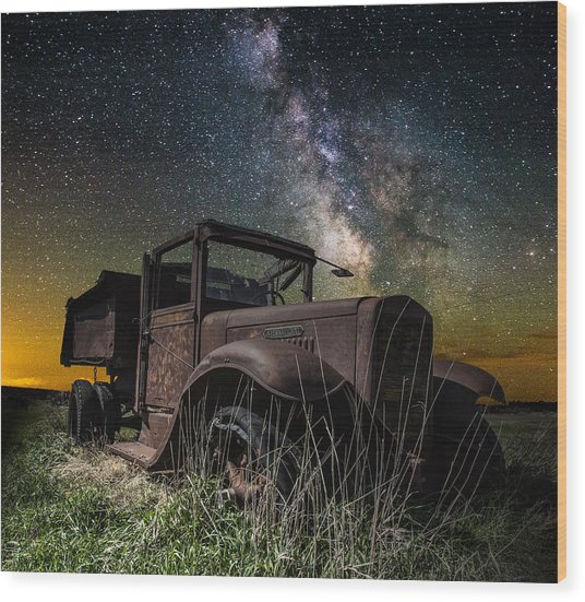 International Milky Way Wood Print