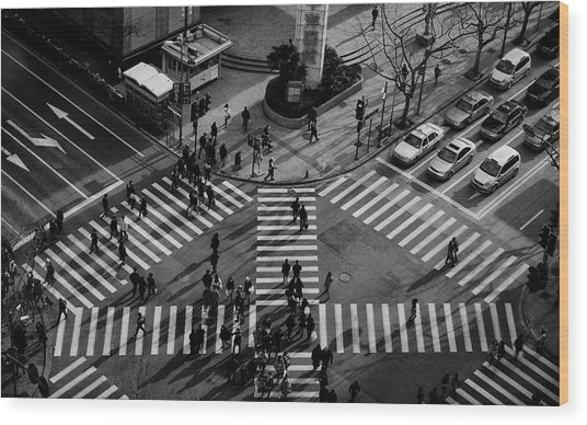 Intersection ( Crossing Alternatives ) Wood Print by C.s. Tjandra