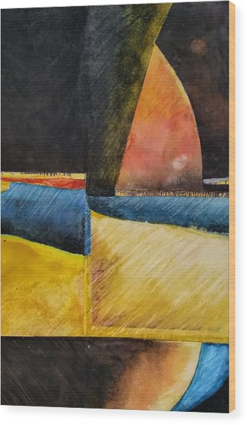 Beyond Wood Print by Barbara  Rhodes