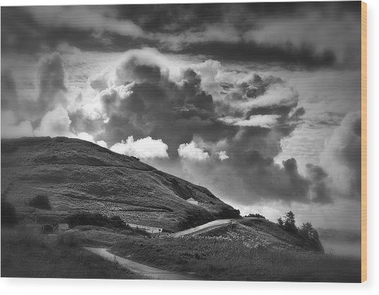 Into The Clouds Wood Print