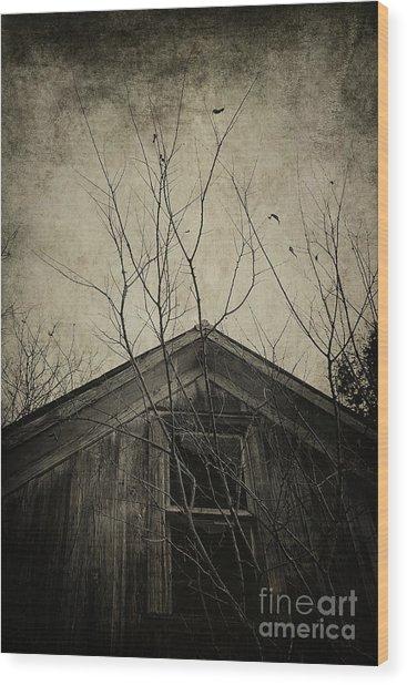 Into The Dark Past Wood Print
