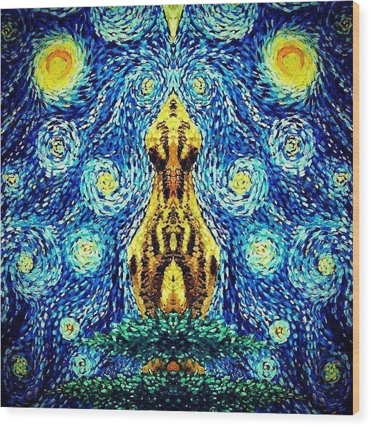 Into The Heavens Wood Print by Sebastian Pierre