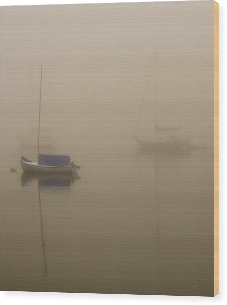Into The Mist Kennebunkport Wood Print