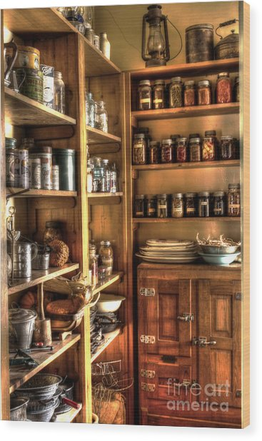 Into The Pantry Wood Print