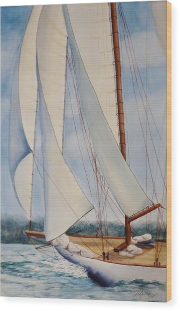 Into The Wind Wood Print by Judy Meng