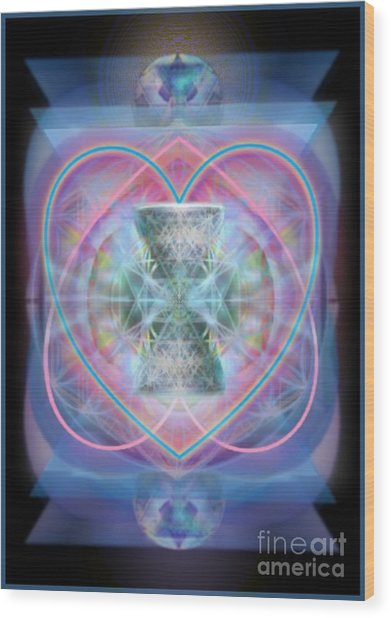 Intwined Hearts Chalice Wings Of Vortexes Radiant Deep Synthesis Wood Print