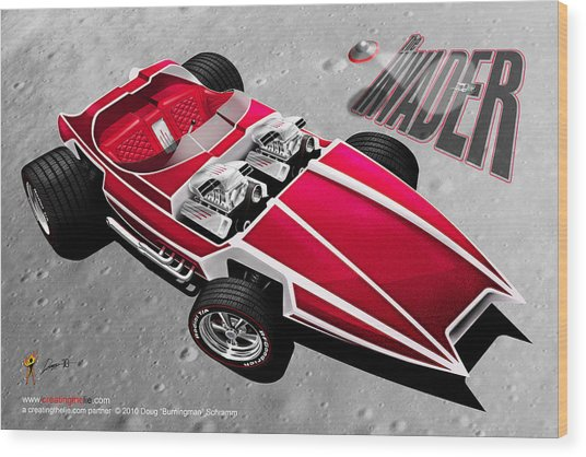 Invader Wood Print