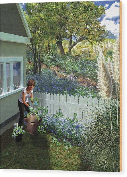Invasive Garden Plants Wood Print