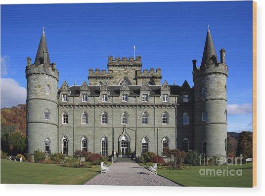 Inveraray Castle Wood Print by Maria Gaellman