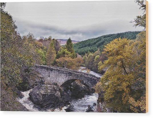 Invermoriston Bridge Wood Print