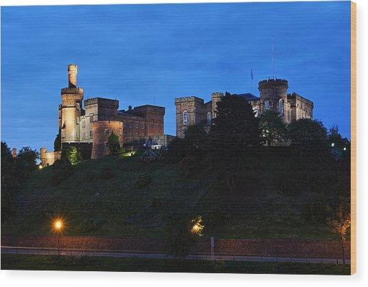 Inverness At Night Wood Print