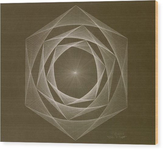 Inverted Energy Spiral Wood Print