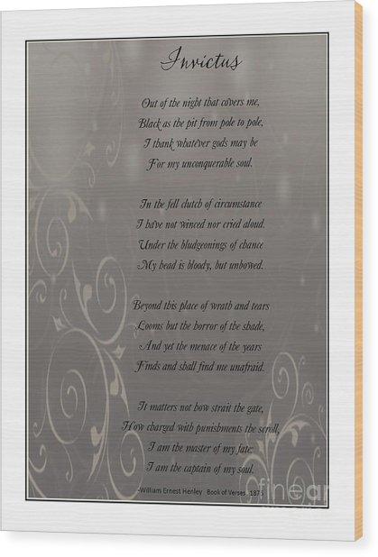 Invictus Tribute 2 Wood Print