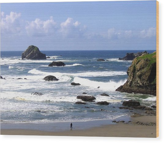 Invigorating Sea Air Wood Print