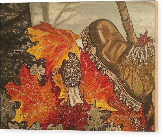 Involuntary Mushroom Slaughter Wood Print