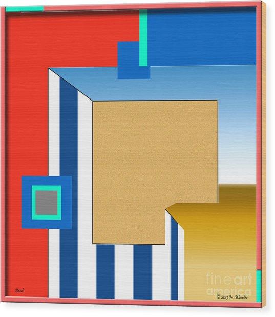 Wood Print featuring the digital art inw_20a5961 Beach by Kateri Starczewski