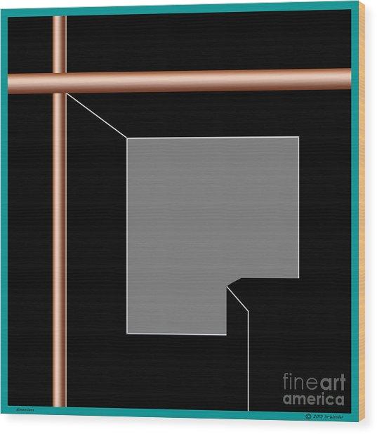 Wood Print featuring the digital art Inw_20a5963 Dimensions by Kateri Starczewski