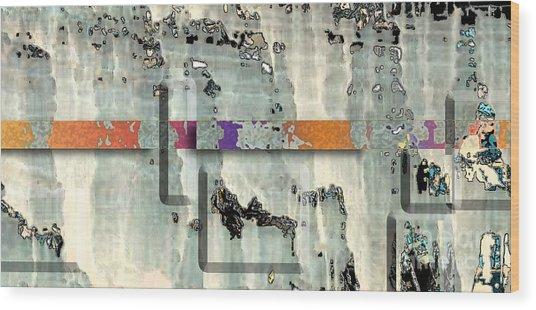 Wood Print featuring the digital art Inw_20a6028detail Ageless Glacial Memories Trekking by Kateri Starczewski