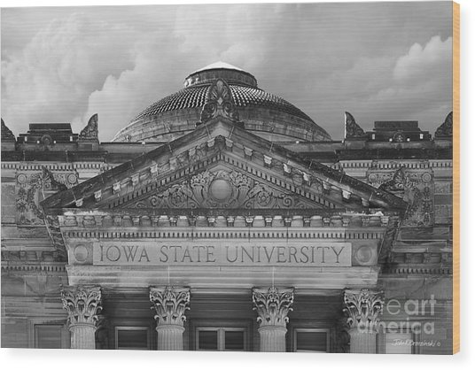 Iowa State University Beardshear Hall Wood Print