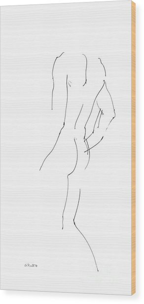 iPhone-Case-Nude-Male2 Wood Print