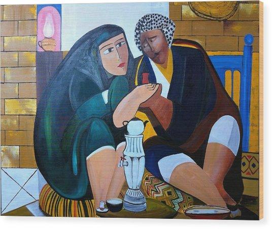 Iraqi Tea Wood Print by Rami Besancon