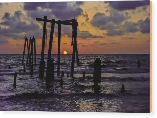 Irb Sunset Wood Print