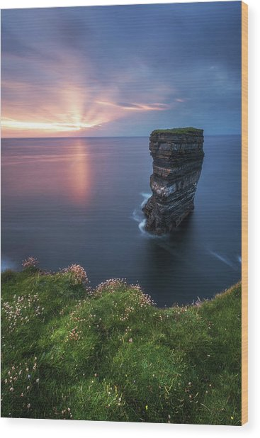 Ireland - Downpatrick Head Wood Print by Jean Claude Castor