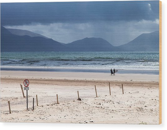 Ireland - Inch Beach Wood Print
