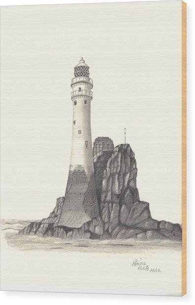 Ireland Lighthouse Wood Print