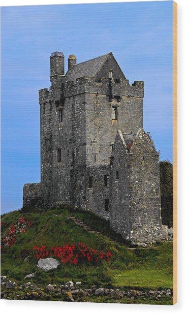 Ireland Stone Castle Wood Print