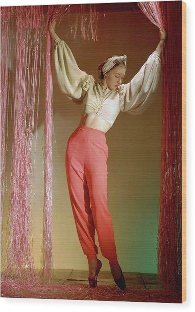 Irina Baronova Under Curtains Wood Print