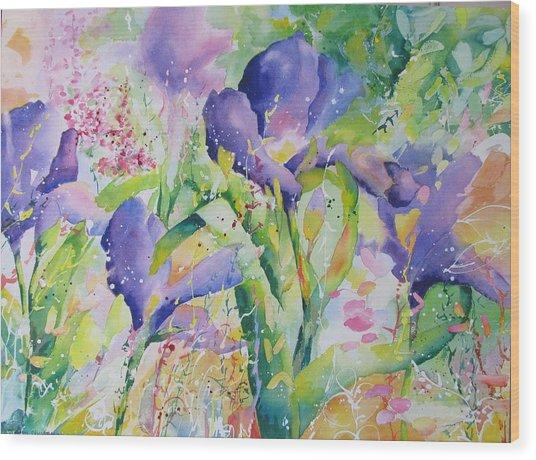 Iris And Friends Wood Print