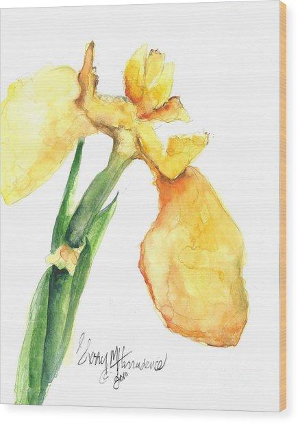 Iris Blooms  Wood Print