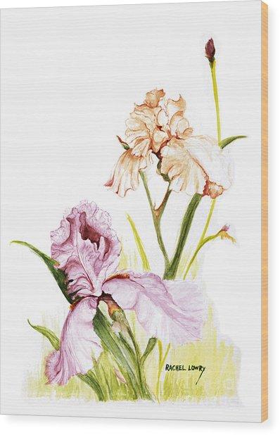 Iris Duo Wood Print
