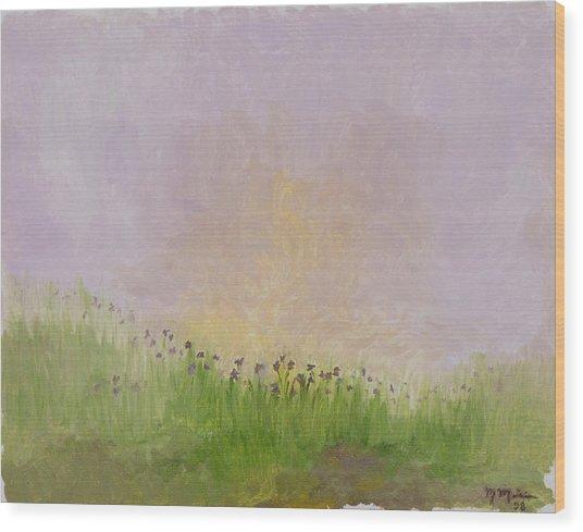 Iris Field Wood Print