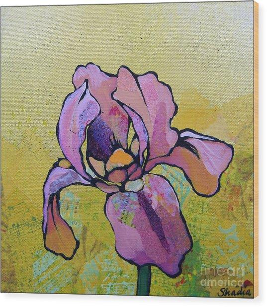 Iris I Wood Print