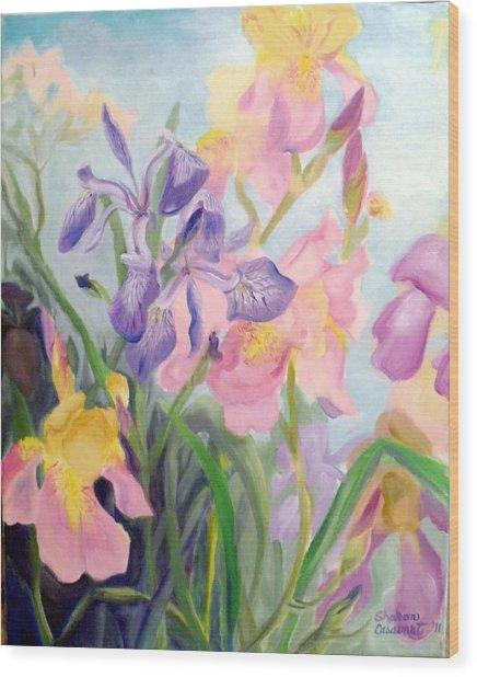Iris Medley Wood Print