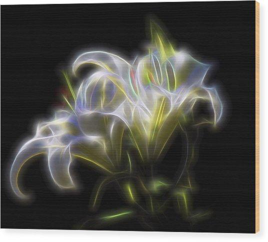 Iris Of The Eye Wood Print
