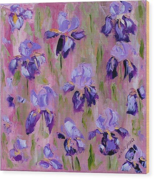 Iris Pattern Wood Print