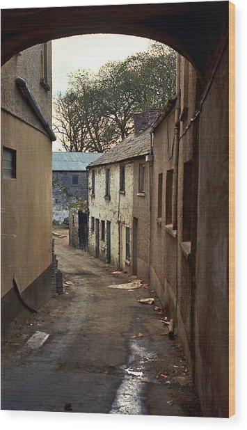 Wood Print featuring the photograph Irish Alley 1975 by Matthew Chapman
