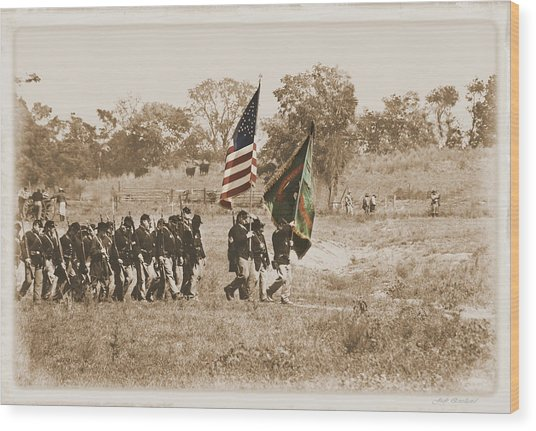 Irish Brigade Wood Print