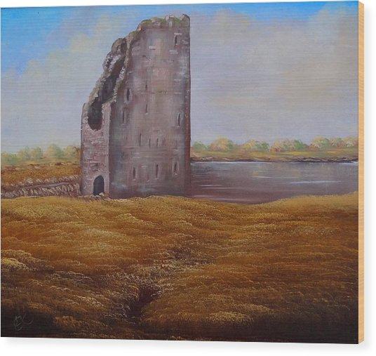Irish Castle Wood Print by Fineartist Ellen